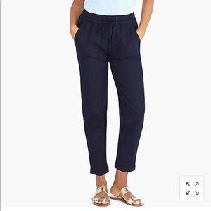 J crew black cotton linen pant